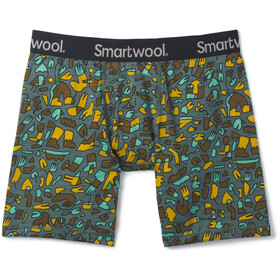 Smartwool Merino 150 Print Boxer Caleçon Homme, pine gray balabar print